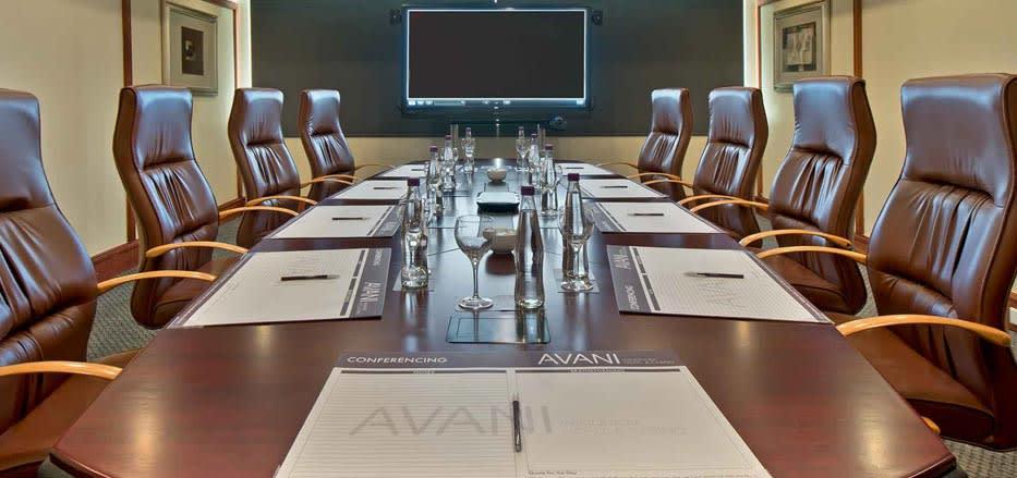 A boardroom setup conference Venues in Windhoek